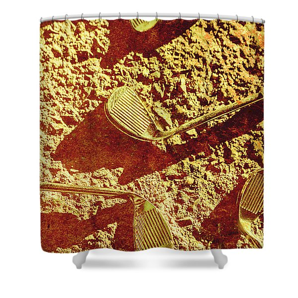 Vintage Golf Irons Shower Curtain