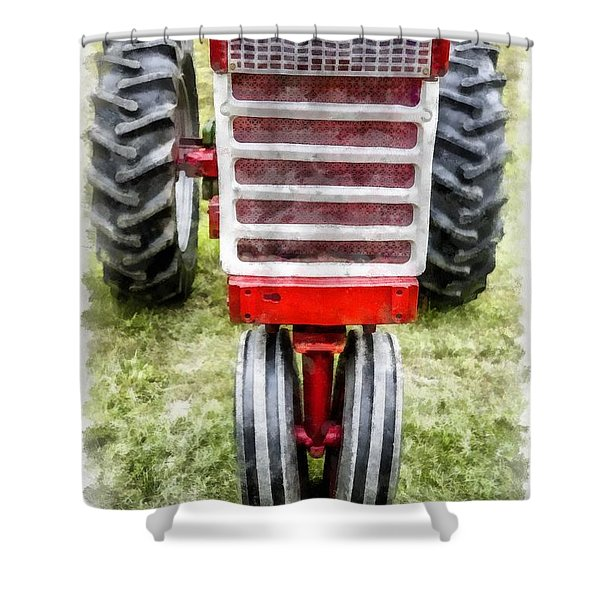 Vintage International Harvester Tractor Shower Curtain