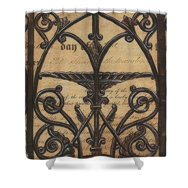 Vintage Iron Scroll Gate 1 Shower Curtain by Debbie DeWitt