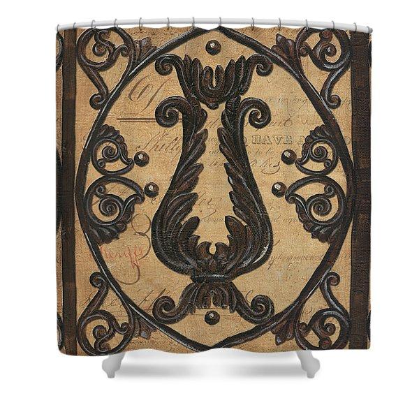 Vintage Iron Scroll Gate 2 Shower Curtain