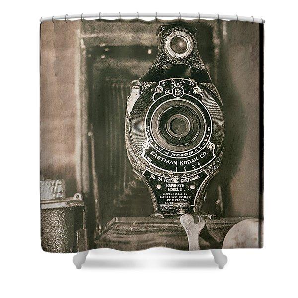 Vintage Kodak Camera Shower Curtain