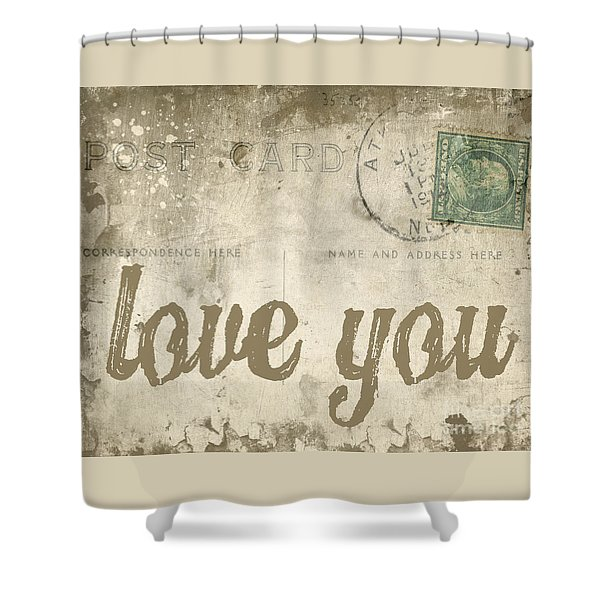 Shower Curtain featuring the photograph Vintage Love Letters by Edward Fielding