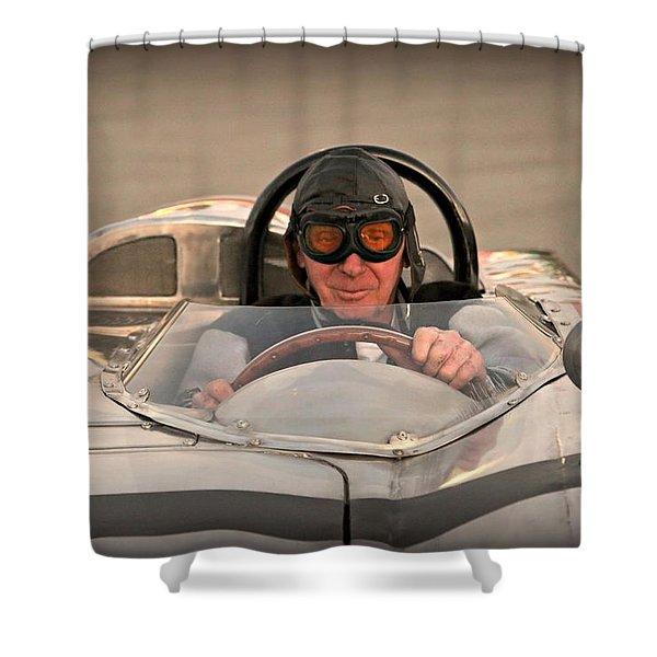 Vintage Man And Machine Shower Curtain