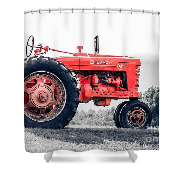 Vintage Mccormick Farmall Tractor Shower Curtain