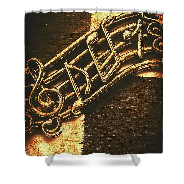 Vintage Melody Shower Curtain