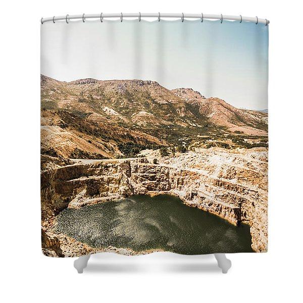 Vintage Mining Pit Shower Curtain