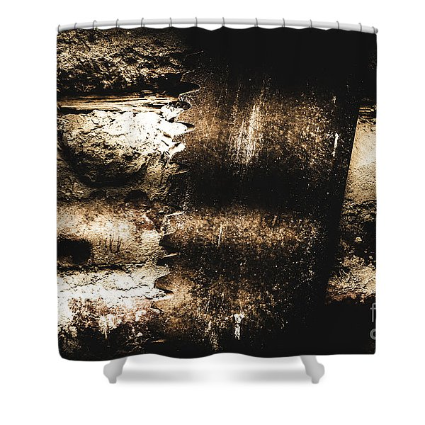 Vintage Mining Saw Shower Curtain