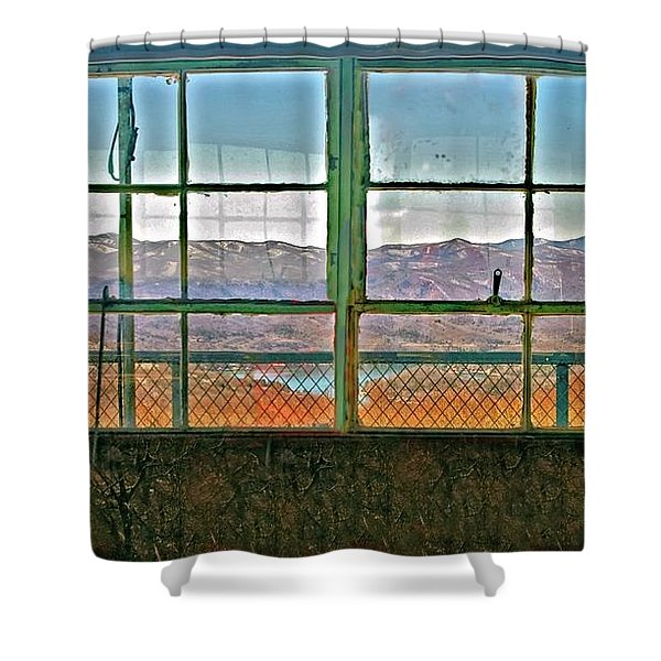 Vintage Mountain View Shower Curtain