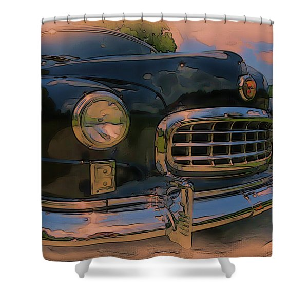 Shower Curtain featuring the digital art Vintage Nash by Tristan Armstrong