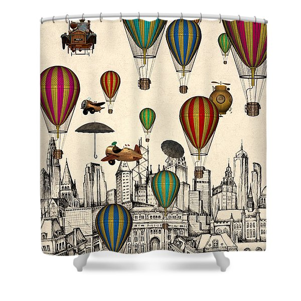 Vintage Old City Shower Curtain