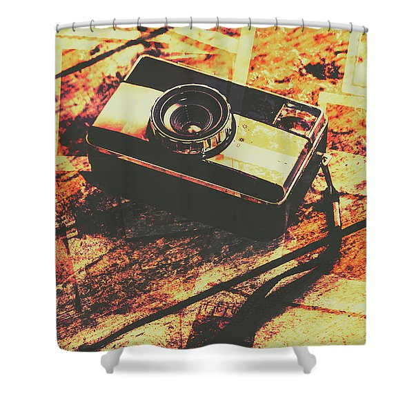 Vintage Old-fashioned Film Camera Shower Curtain