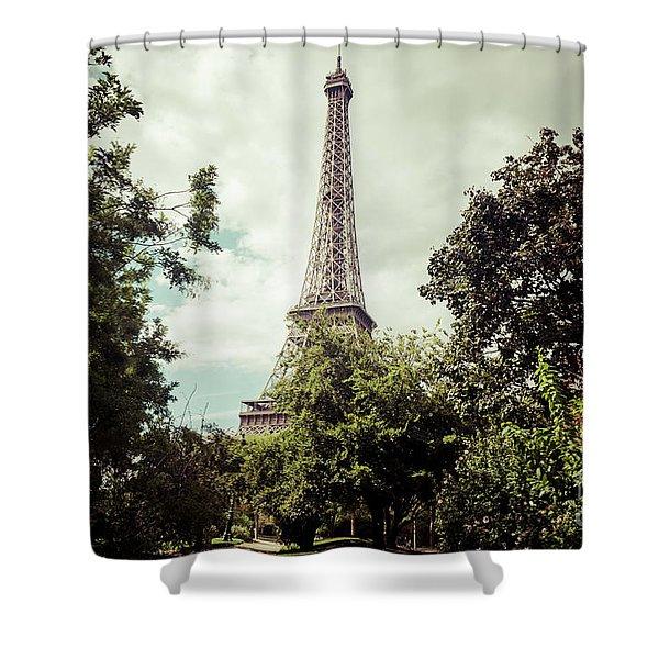 Vintage Paris Landscape Shower Curtain