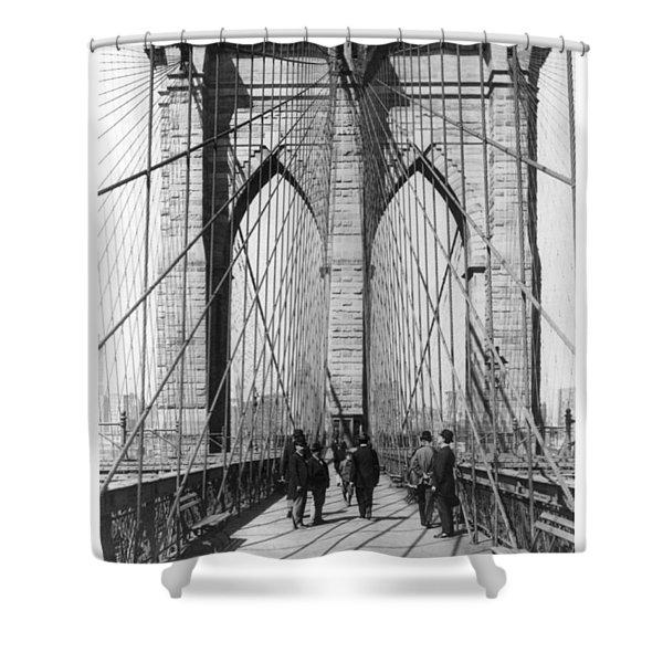 Vintage Photo Brooklyn Bridge Shower Curtain