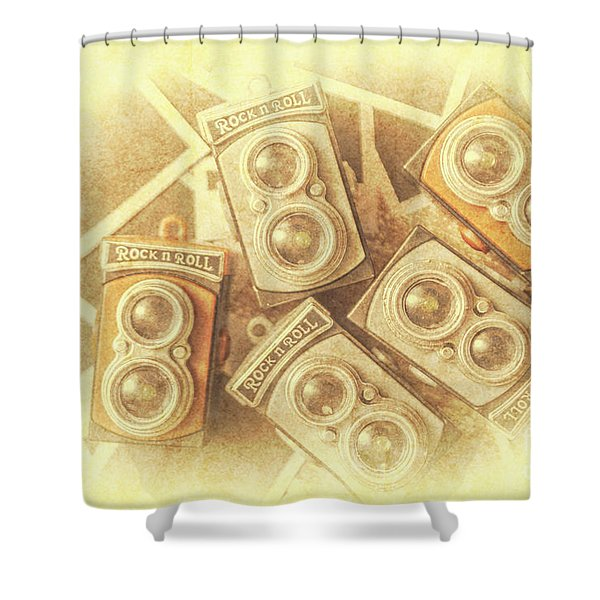 Vintage Photographer Film Art Shower Curtain