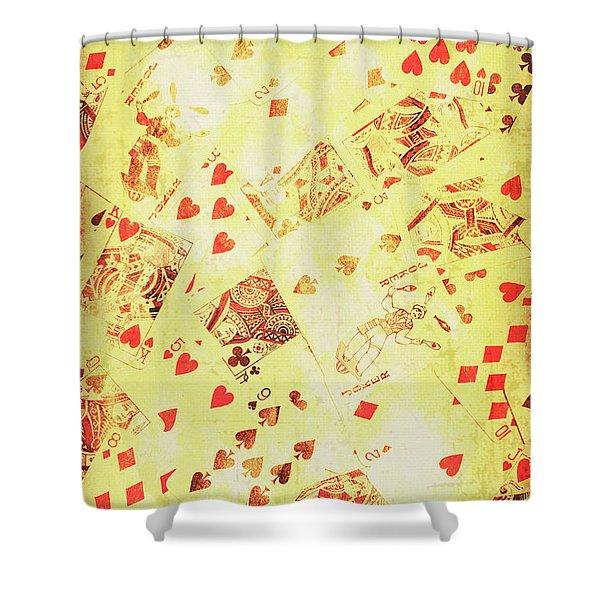 Vintage Poker Background Shower Curtain