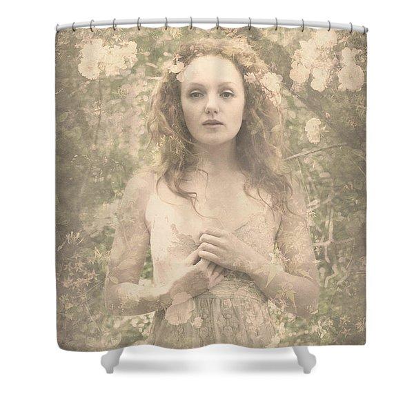 Vintage Portrait Shower Curtain