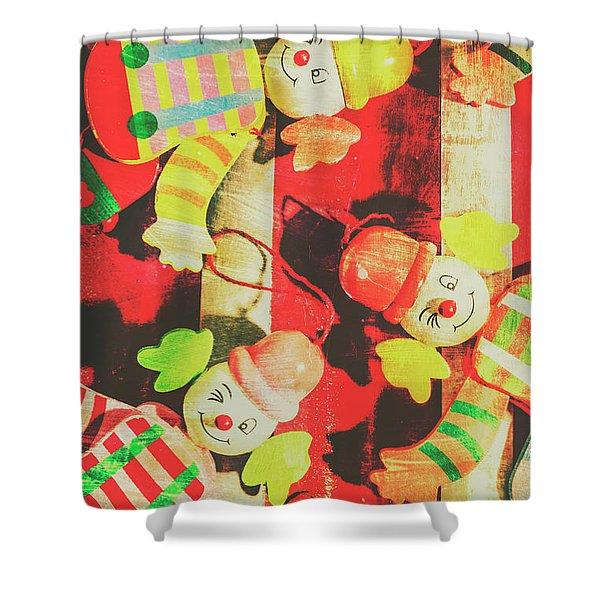 Vintage Pull String Puppets Shower Curtain