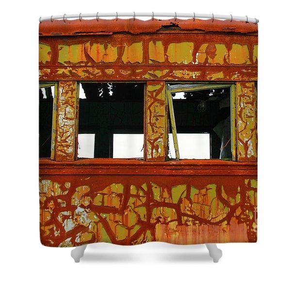 Vintage Railcar Shower Curtain