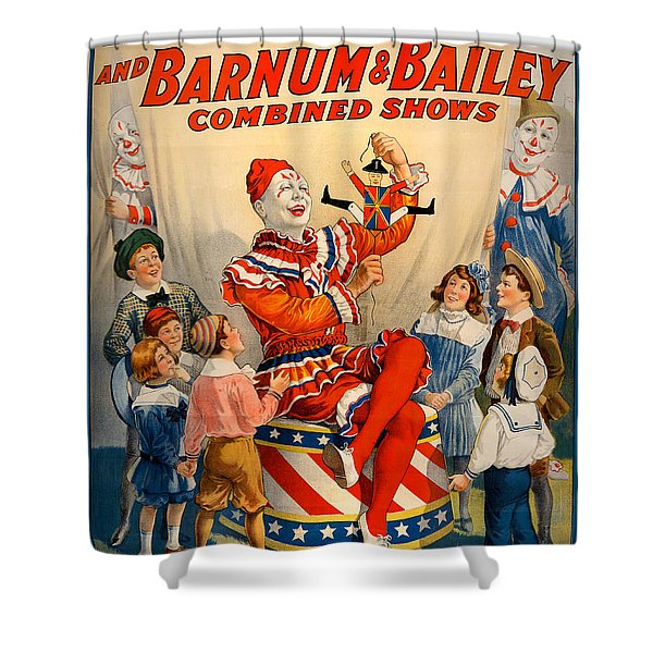 Vintage Ringling Brothers And Barnum And Bailey Combined Circus Shower Curtain