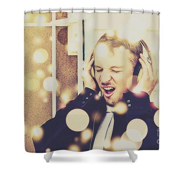 Vintage Rocker Shower Curtain
