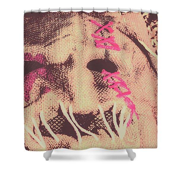 Vintage Scarecrow Mask Shower Curtain