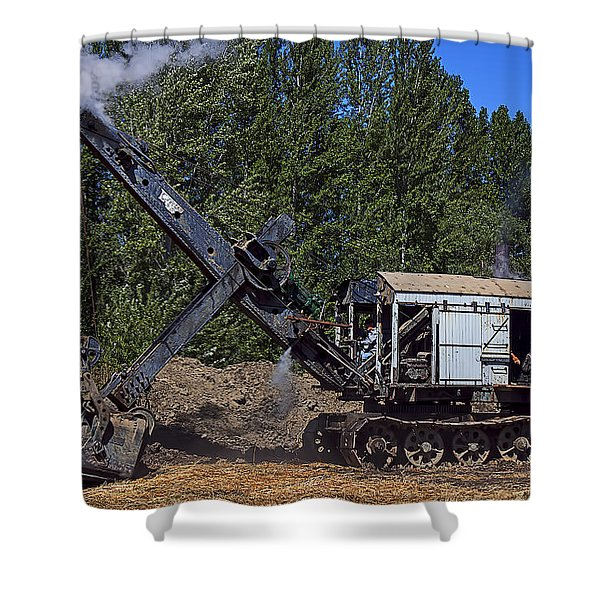 Vintage Steam Shovel Shower Curtain