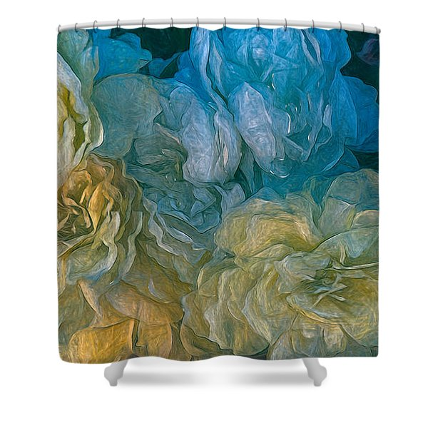 Vintage Still Life Bouquet Painting Shower Curtain
