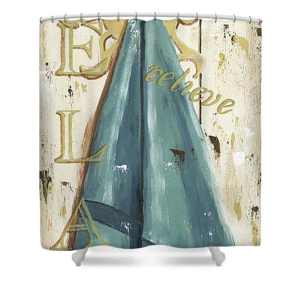 Vintage Sun Beach 2 Shower Curtain