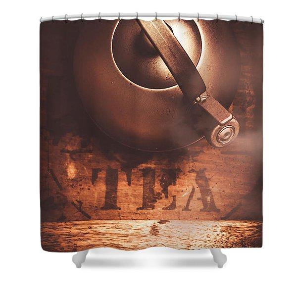 Vintage Tea Break Shower Curtain
