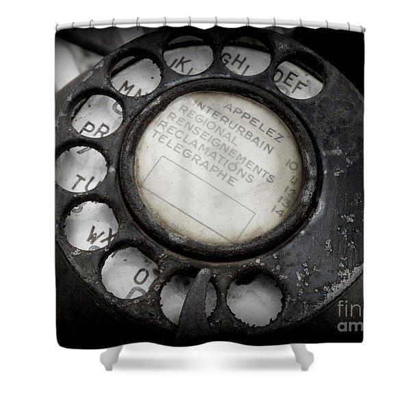 Vintage Telephone Shower Curtain