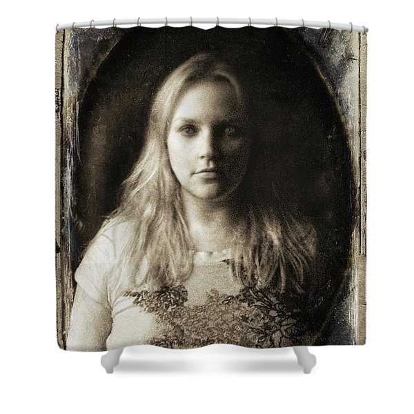 Vintage Tintype Ir Self-portrait Shower Curtain