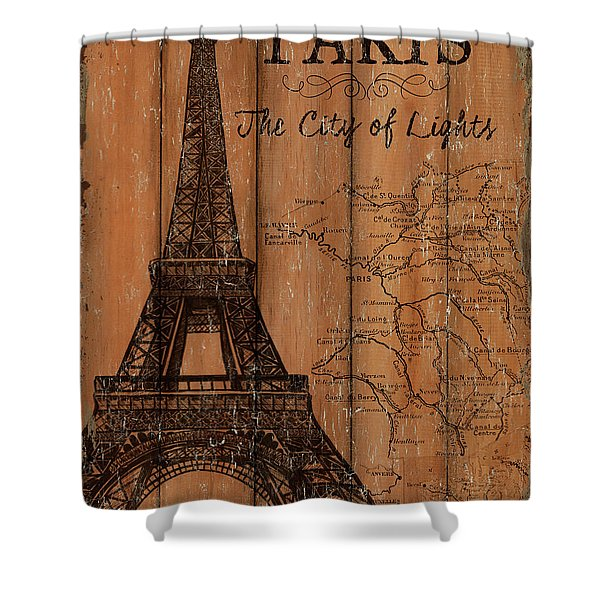 Vintage Travel Paris Shower Curtain
