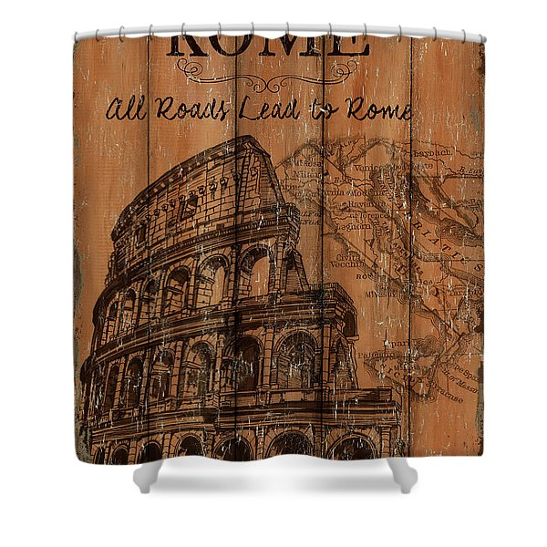 Vintage Travel Rome Shower Curtain