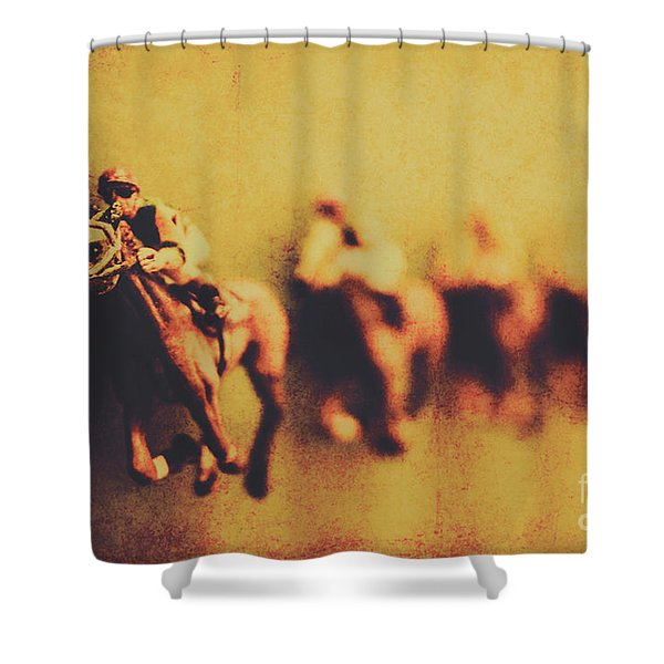 Vintage Trots Shower Curtain