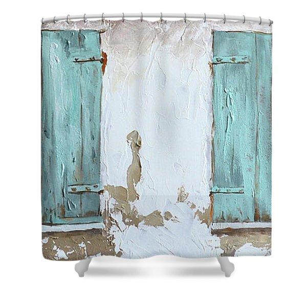 Vintage Series #1 Windows Shower Curtain