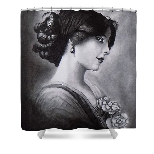 Vintage Woman Shower Curtain