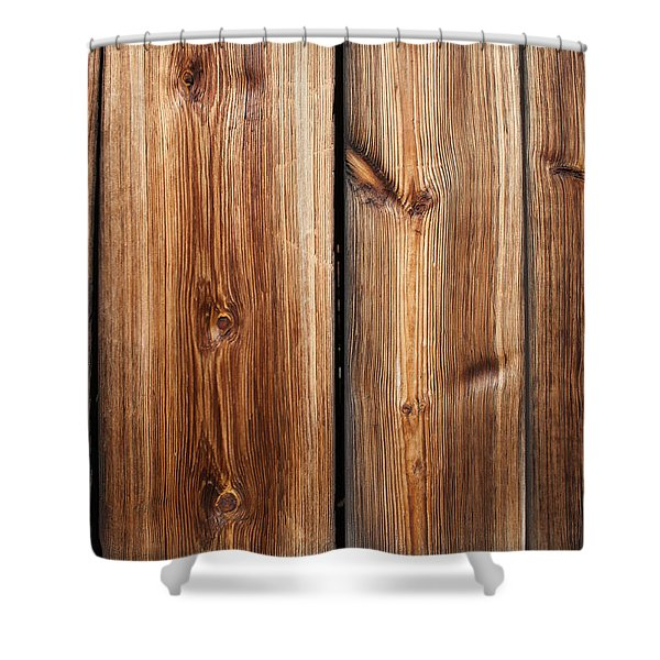 Vintage Wood Planks Shower Curtain
