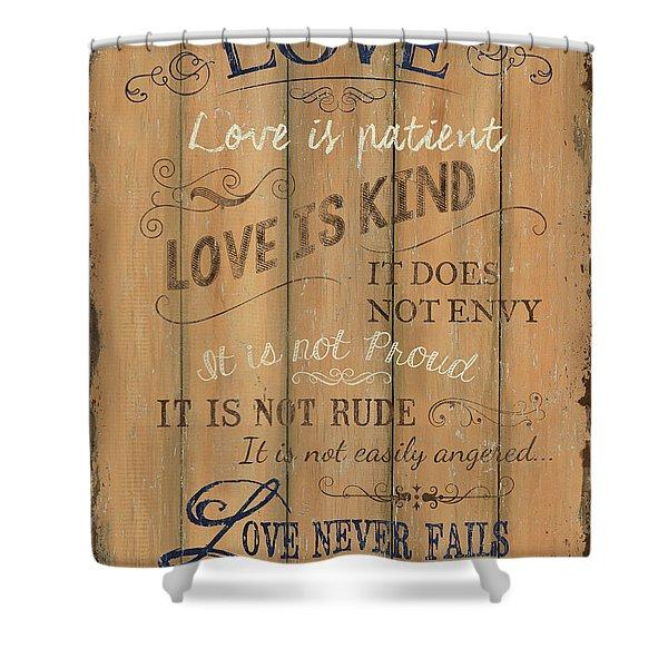 Vintage Wtlb Love Shower Curtain