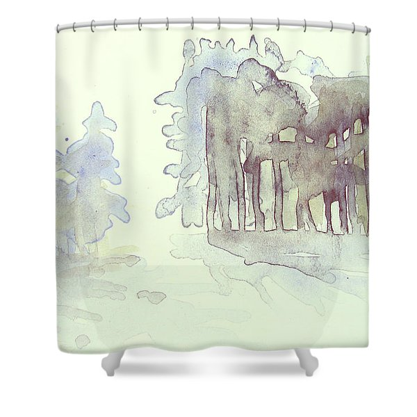 Vintrig Skogsglanta, A Wintry Glade In The Woods 2,83 Mb_0047 Up To 60 X 40 Cm Shower Curtain
