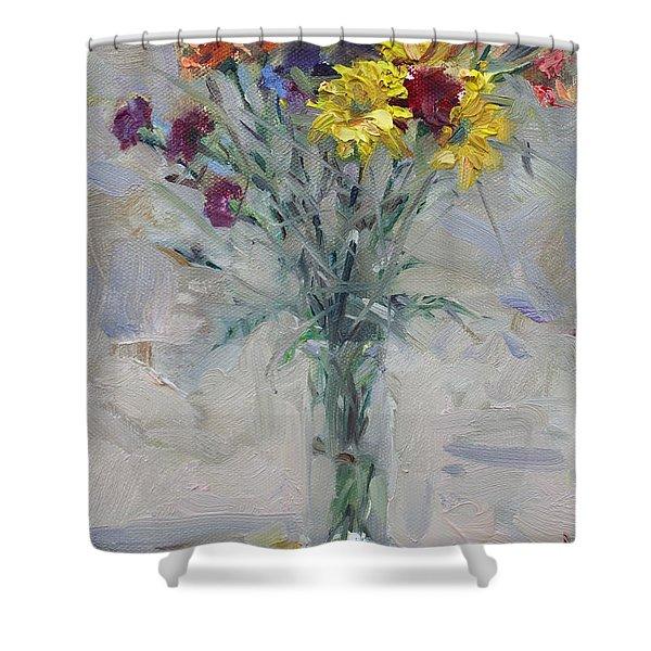 Viola's Flowers Shower Curtain