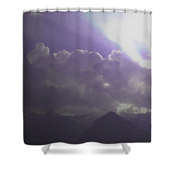 Violet Clouds Shower Curtain