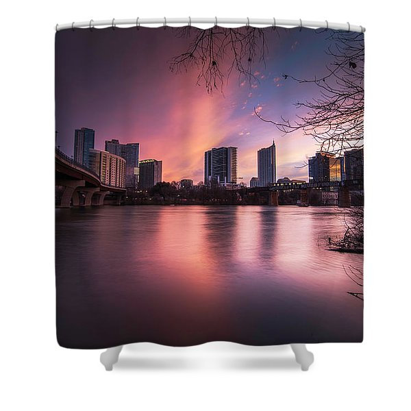 Violet Crown Shower Curtain