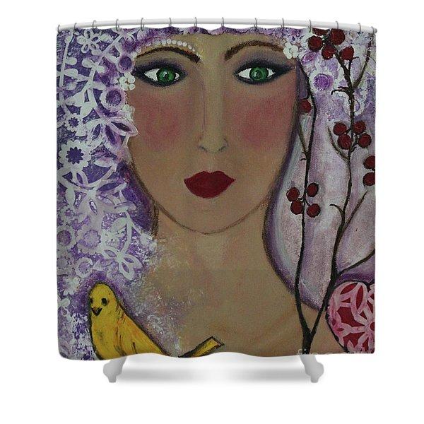 Violet Queen Shower Curtain