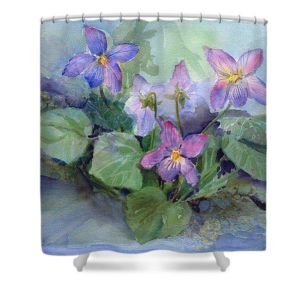 Violets Shower Curtain
