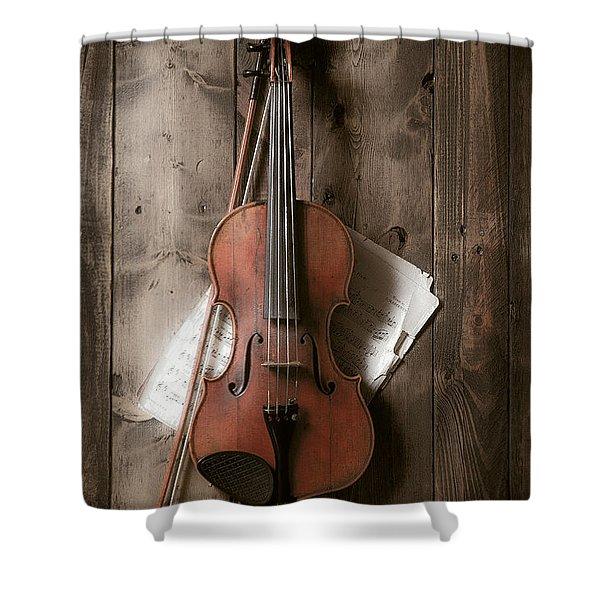 Violin Shower Curtain