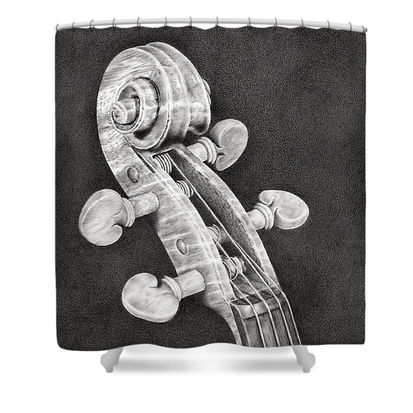 Violin Scroll Shower Curtain