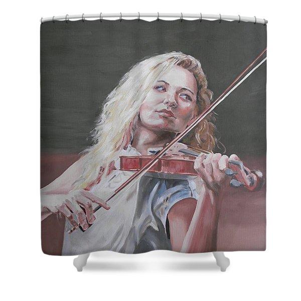 Violin Solo Shower Curtain