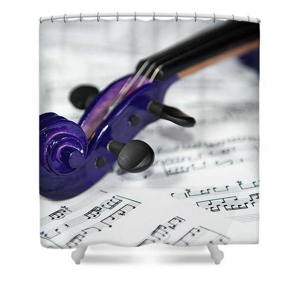 Violin Tuning Pegs  Shower Curtain