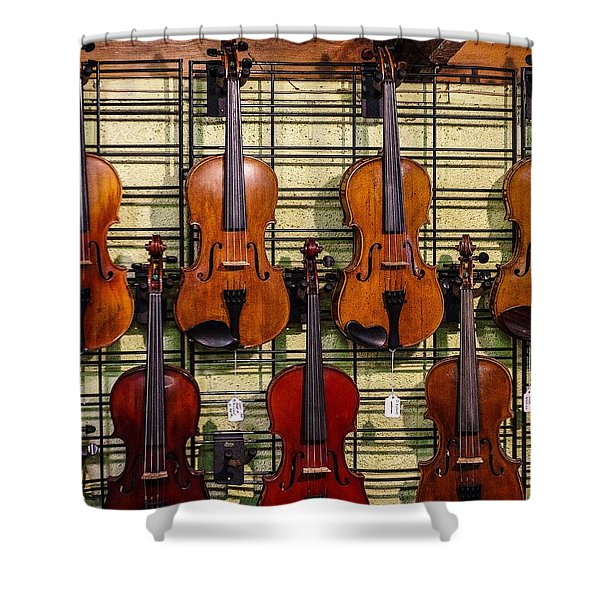 Violins In A Shop Shower Curtain