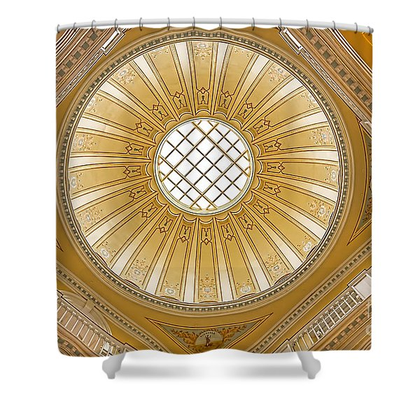 Shower Curtain featuring the photograph Virginia Capitol - Dome by Jemmy Archer